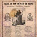 Coleccionismo: GOIGS GOZOS DE SAN ANTONIO DE PADUA EN BARCELONA (IMP. BARCELONESA, C. 1900). Lote 56650406