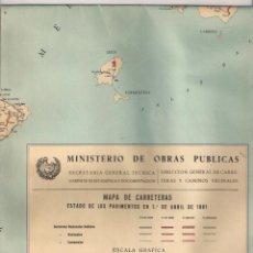 Coleccionismo: MAPA DE ESPAÑA DE CARRETERAS ABRIL 1961. Lote 56658688