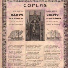 Coleccionismo: GOIGS COPLAS QUE CANTAN AL SANTO CRISTO DE LA GALERA DE D. JUAN DE AUSTRIA (TIP. RELIGIOSA C. 1900). Lote 56660439