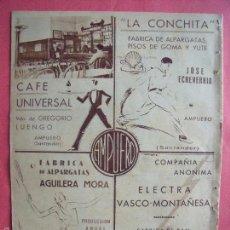 Coleccionismo: VIUDA DE GREGORIO LUENGO.-CAFE UNIVERSAL.-JOSE ECHEVERRIA.-LA CONCHITA.-AGUILERA MORA.-AMPUERO.-1932. Lote 56663213