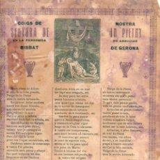Coleccionismo: GOIGS DE NOSTRA SENYORA DE LA PIETAT DE ARBUCIAS (IMP. STA COLOMA DE FARNÉS, C. 1900). Lote 56666299