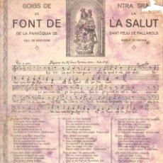 Coleccionismo: GOIGS DE NTRA. SRA. DE LA FONT DE LA SALUT EN ST. FELIU DE PALLAROLS (IMP. BONET, OLOT, 1934). Lote 56668085