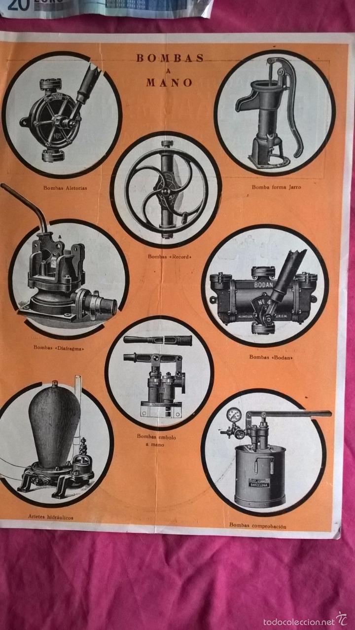 Coleccionismo: Publicidad antigua de bombas a motor y bombas a mano. Faust y Kammann - Foto 2 - 56724568