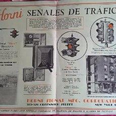 Coleccionismo: HORNI SEÑALES DE TRÁFICO. SEMÁFOROS. ANTIGUA PUBLICIDAD. SOBRE 1928. Lote 175203445