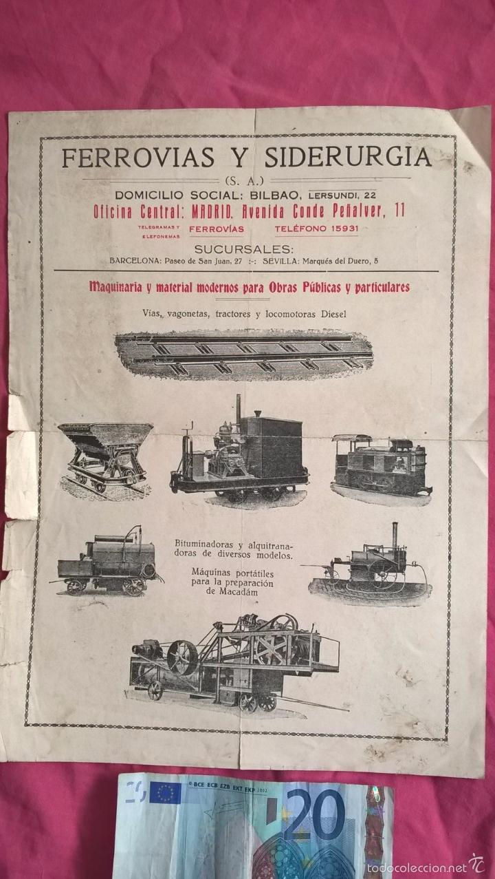 Bilbao ferrov as y siderurgia antigua publici comprar for Material de oficina bilbao