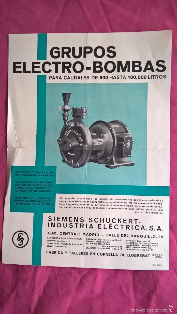 Coleccionismo: Siemens. Antigua publicidad de grupos Electro-bombas - Foto 2 - 56725224