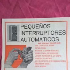 Coleccionismo: SIEMENS. ANTIGUA PUBLICIDAD DE INTERRUPTORES. Lote 56725239