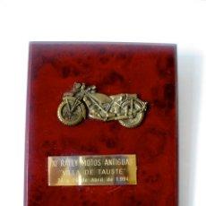 Coleccionismo: METOPA XI RALLY MOTOS ANTIGUAS - ABRIL 1994 - AYUNTAMIENTO TAUSTE. Lote 56859801