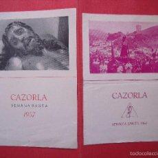 Coleccionismo: CAZORLA.-SEMANA SANTA.-PROGRAMAS.-AÑOS 1957-1960.. Lote 56893807
