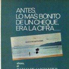 Coleccionismo: ANUNCIO PUBLICIDAD BANCO SANTANDER. Lote 56895986