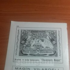 Coleccionismo: BARCELONA, CHAMPAGNE NOYET ,, CARPINTERIA ARTISTICA MAGIN VILARDELL -ANUNCIO AÑO 1911- (REFAN20)**. Lote 117622135