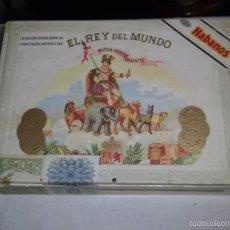Coleccionismo: ANTIGUA CAJA DE HABANOS EL REY DEL MUNDO 25 DEMI. Lote 56991754