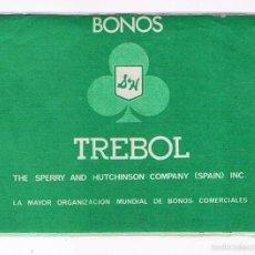 Coleccionismo: LIBRETA CARTILLA BONOS TREBOL INCLUYE ALGUNOS BONOS PEGADOS. Lote 57041241