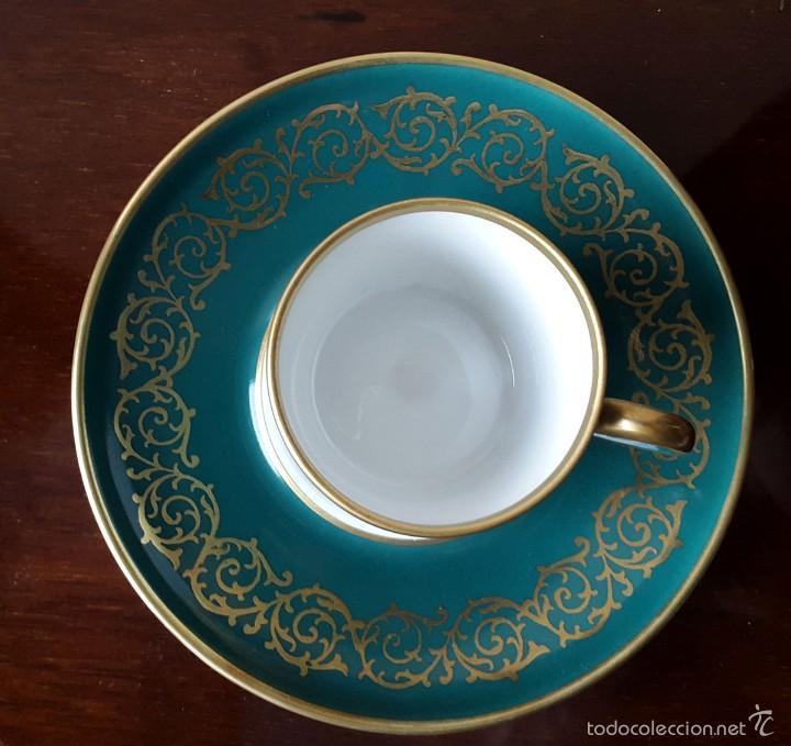 Coleccionismo: Taza colección Porcelana Gloria Bayreuth. 22 kilates de oro sin brillo. - Foto 2 - 57046328