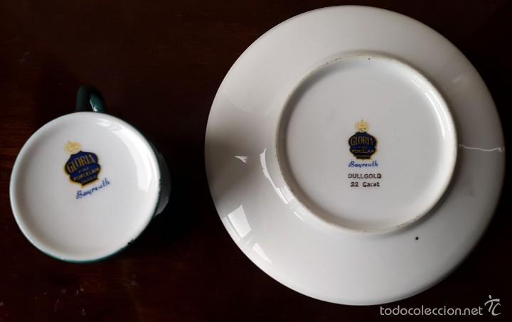 Coleccionismo: Taza colección Porcelana Gloria Bayreuth. 22 kilates de oro sin brillo. - Foto 3 - 57046328