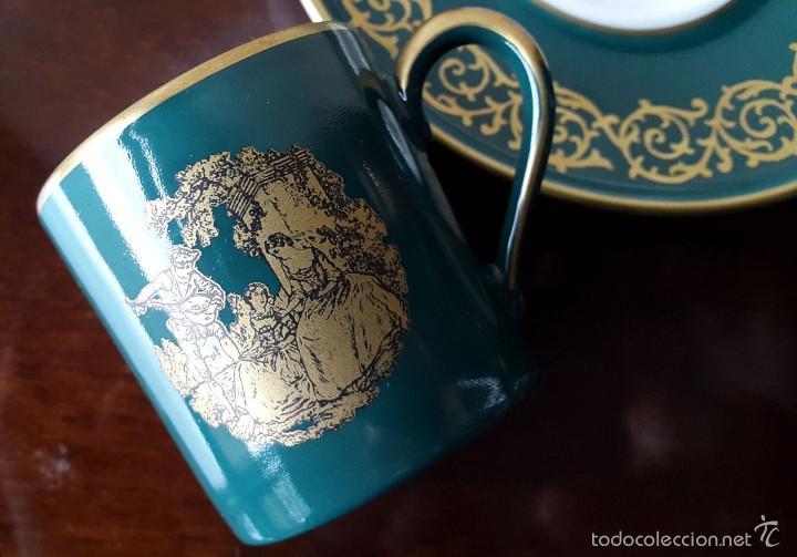 Coleccionismo: Taza colección Porcelana Gloria Bayreuth. 22 kilates de oro sin brillo. - Foto 4 - 57046328