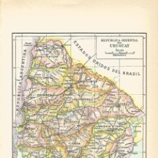 Coleccionismo: LAMINA 083: MAPA DE URUGUAY. Lote 57064282