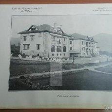 Coleccionismo: SUKARRIETA - PEDERNALES VIZCAYA , PABELLONES PRINCIPALES -AÑO 1926-(REF-BM) 22,8X15CM LAMINA. Lote 145623208