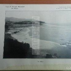 Coleccionismo: SUKARRIETA - PEDERNALES VIZCAYA , LA PLAYA -AÑO 1926-(REF-BM) 22,8X15CM LAMINA. Lote 145623225