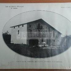 Coleccionismo: CASERIO VASCO , VIZCAYA BIZKAIA -AÑO 1926-(REF-BM) 22,8X15CM LAMINA. Lote 57070525