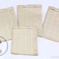 Coleccionismo: CONJUNTO DE 4 CARTILLAS CON CUPONES DE RACIONAMIENTO DEL AÑO 1950 - DIFERENTES ALIMENTOS - USADOS. Lote 117880620