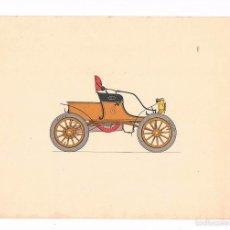 Coleccionismo: LÁMINA COCHE HISTORIA DEL AUTOMÓVIL LABORATORIOS AMOR GIL, S.A. 1966 OLDSMOBILE 7. Lote 57108079