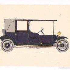 Coleccionismo: LÁMINA COCHE HISTORIA DEL AUTOMÓVIL LABORATORIOS AMOR GIL, S.A. 1966 LANCHESTER 28. Lote 57108117