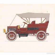 Coleccionismo: LÁMINA COCHE HISTORIA DEL AUTOMÓVIL LABORATORIOS AMOR GIL, S.A. 1966 WHITE 15 STEAM CAR. Lote 57108212