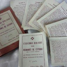 Coleccionismo: 25 ESQUEMAS BÍBLICOS REUNIONES ACCIÓN CATÓLICA. NOVELDA .FIESTA SAN JOSÉ 1957.FEDERICO SALA. Lote 57137283