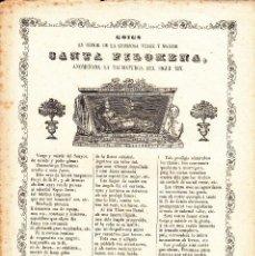 Coleccionismo: GOIGS EN HONOR DE SANTA FILOMENA -MANRESA IMPR. DE PAU ROCA ----1866-----. Lote 57196881