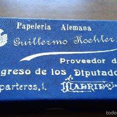 Sammeln - CAJA TAMAÑO TARJETA DE VISITA PAPELERIA ALEMANA DE GUILLERMO HOCHLER - PROVEEDOR CONGRESO DIPUTADOS - 57282940