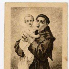 Coleccionismo: ANTIGUA ESTAMPA RELIGIOSA SAN ANTONIO PADUA. NOVENA SAGRADO CORAZÓN ÉCIJA 1940 . Lote 57290318