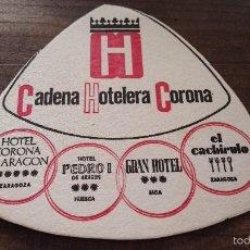 Coleccionismo: POSAVASOS CADENA HOTELERA CORONA. Lote 57324916