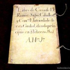 Coleccionismo: DO-086. LIBRO DE CAJA. DE RAMON SEGUÍ, CABALLERO. TODO HOJAS VIRGENES. BARCELONA. 1804. Lote 56910137