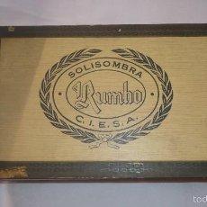 Coleccionismo: CAJA TABACO RUMBO DE C.I.E.S.A. Lote 191969261