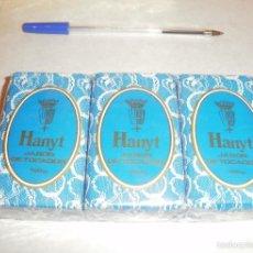 Coleccionismo: JABÓN. HANYT, LOTE DE 3 PASTILLAS NUEVAS DE LA TOJA, AÑOS 70/80. BLISTER PRECINTADO. Lote 57565647