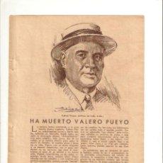 Coleccionismo: 1935 ARROZ HELLIN CALASPARRA ESPARTO ANTONIO MOLINA CAPACHOS VICTOR TOMAS MUERTE VALERO PUEYO HIPICA. Lote 57610240