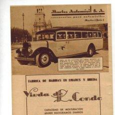 Coleccionismo: AÑO 1934 RECORTE PRENSA PUBLICIDAD COCHE ADLER HARINAS VIUDA DE L.CONDE LINARES MARTOS AUTOMOVIL. Lote 57617453