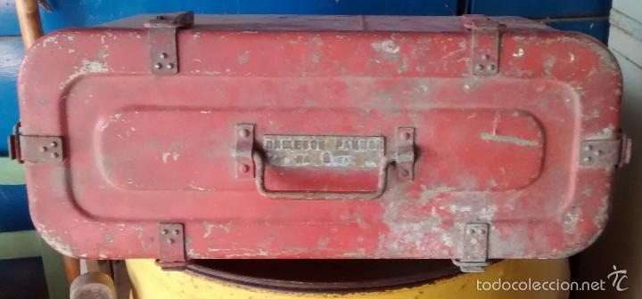 Coleccionismo: Caja rusa de 6 cierres, para seis raciones de supervivencia de avión. - Foto 3 - 57619658