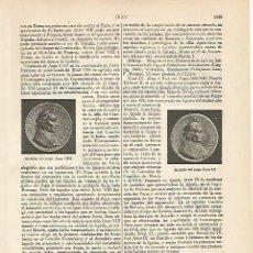 Coleccionismo: LAMINA ESPASA 6276: MEDALLAS DE LOS PAPAS JUAN VIII Y JUAN IX. Lote 57623828