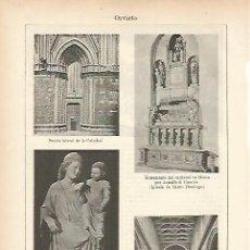 Coleccionismo: LAMINA ESPASA 7636: CATEDRAL DE ORVIETO ITALIA. Lote 57638351