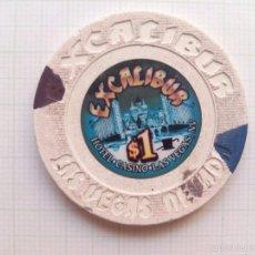 Coleccionismo: FICHA DEL CASINO EXCALIBUR DE LAS VEGAS. Lote 57652894
