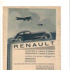 Coleccionismo: AÑO 1934 RECORTE PRENSA PUBLICIDAD JABON GIRALDA COCHE AUTOMOVIL RENAULT VIVASTELLA NERVASTELLA. Lote 57740715