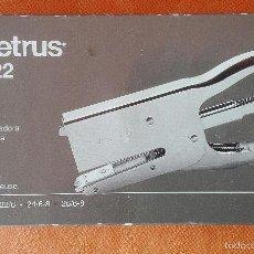 Coleccionismo: GRAPADORA TENAZA. PETRUS 222. ENVÍO: 2,50 € *.. Lote 156619920