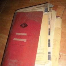 Coleccionismo: LOTE ANTIGUA CARPETA LOTE DOCUMENTOS ANTIGUOS ALICANTE PLANOS RECIBOS PROYECTOS DIBUJOS ETC. Lote 57777551