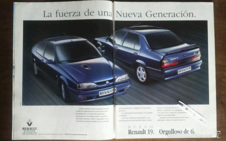PUBLICIDAD AUTOMOVIL RENAULT 19 (Coleccionismo - Varios)