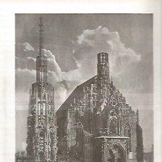 Coleccionismo - LAMINA 3166: ALEMANIA. Iglesia de Nuestra Seora en Nuremberg - 57621365