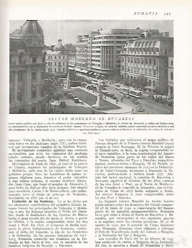 LAMINA 3223: RUMANIA. VISTA DE BUCAREST (Coleccionismo - Laminas, Programas y Otros Documentos)
