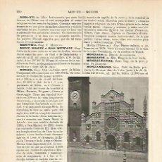 Coleccionismo: LAMINA ESPASA 8722: CATEDRAL DE MONZA ITALIA. Lote 57901955