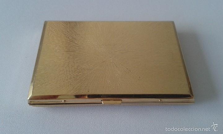 Coleccionismo: Preciosa pitillera metálica dorada -- Con filigranas en el frontal -- - Foto 4 - 57910893